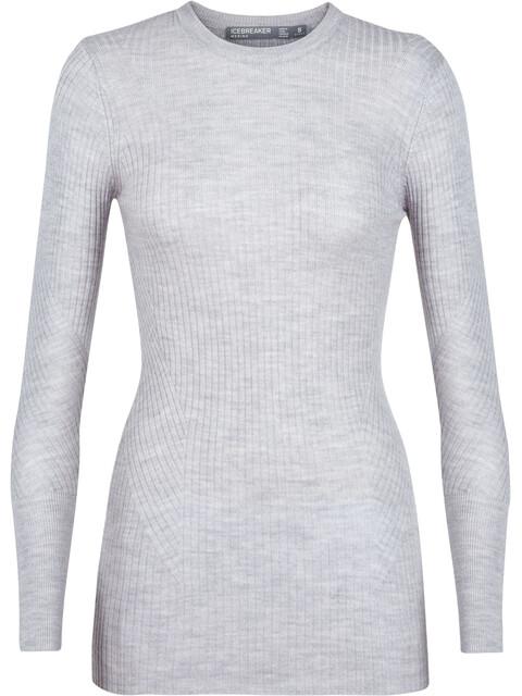 Icebreaker Valley Slim Crew Sweater Women Steel Heather